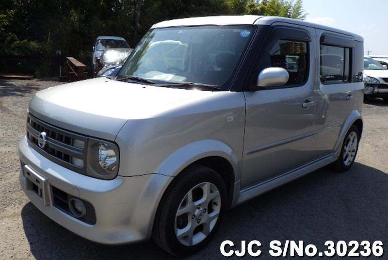 2005 nissan cube silver for sale stock no 30236 japanese used cars exporter. Black Bedroom Furniture Sets. Home Design Ideas