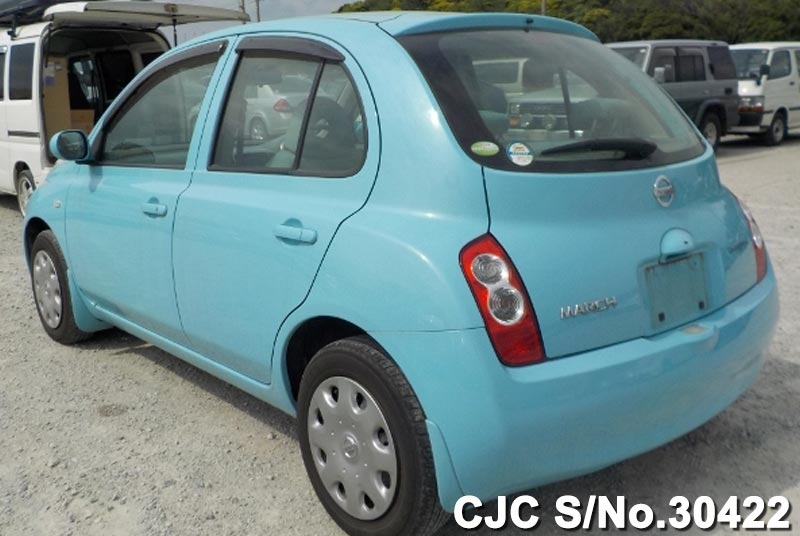 2005 nissan march light blue for sale stock no 30422. Black Bedroom Furniture Sets. Home Design Ideas