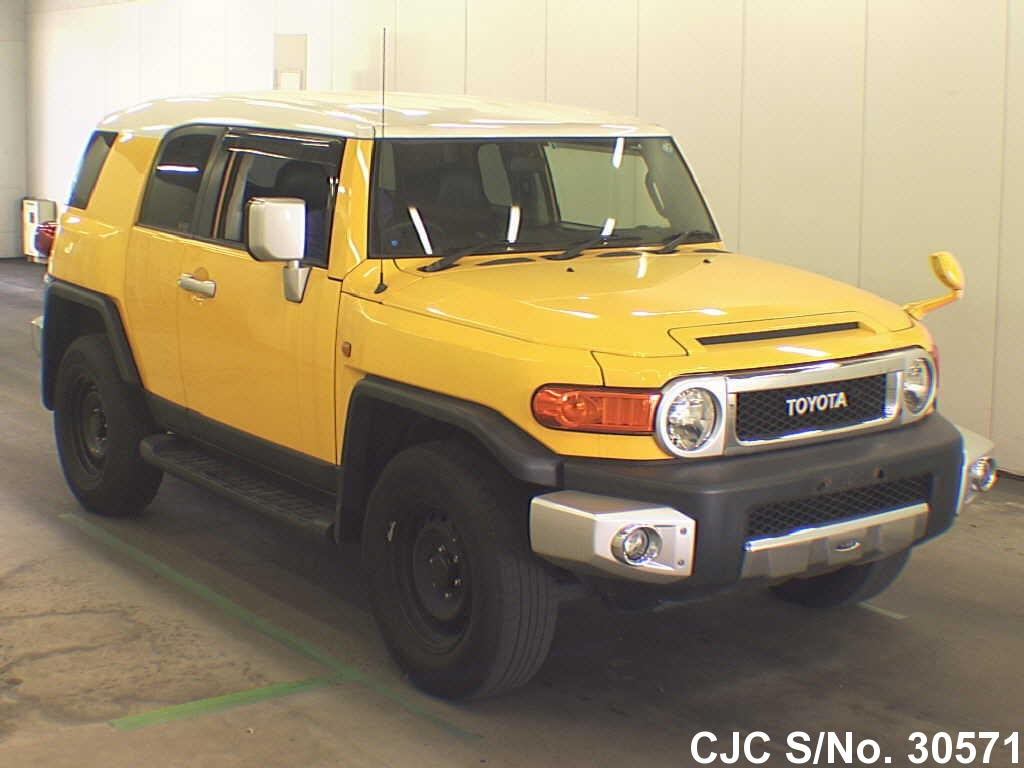 2011 toyota fj cruiser yellow for sale stock no 30571 japanese used cars exporter. Black Bedroom Furniture Sets. Home Design Ideas