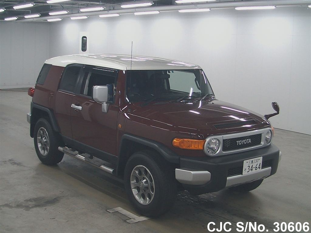 2011 toyota fj cruiser wine red for sale stock no 30606 japanese used cars exporter. Black Bedroom Furniture Sets. Home Design Ideas