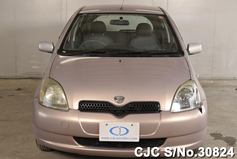 2000 toyota vitz yaris pink for sale stock no 30824 japanese used cars exporter. Black Bedroom Furniture Sets. Home Design Ideas