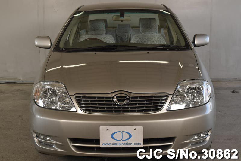 2004 toyota corolla silver for sale stock no 30862 japanese used cars exporter. Black Bedroom Furniture Sets. Home Design Ideas