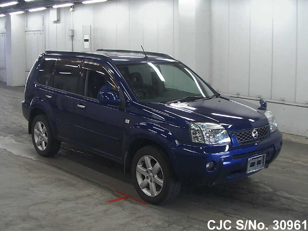 2005 nissan x trail blue for sale stock no 30961 japanese used cars exporter. Black Bedroom Furniture Sets. Home Design Ideas