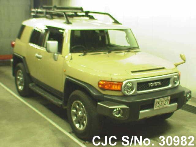 2012 toyota fj cruiser beige 2 tone for sale stock no 30982 japanese used cars exporter. Black Bedroom Furniture Sets. Home Design Ideas