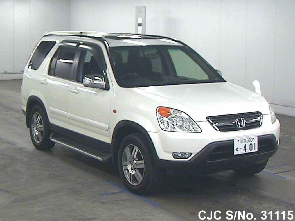 2003 honda crv white for sale stock no 31115 japanese used cars exporter. Black Bedroom Furniture Sets. Home Design Ideas