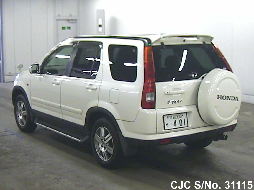 2003 honda crv white for sale stock no 31115 japanese for 2003 honda crv gas mileage