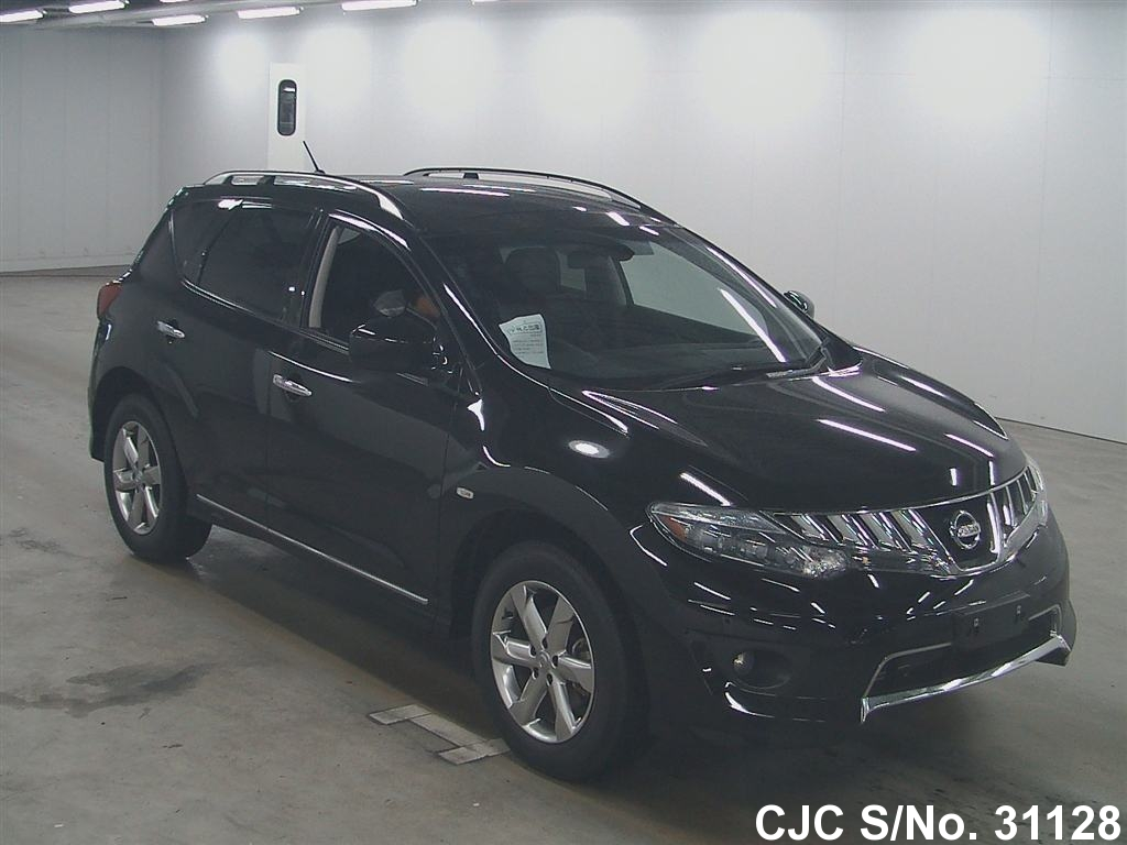 2010 nissan murano black for sale stock no 31128 japanese used cars exporter. Black Bedroom Furniture Sets. Home Design Ideas