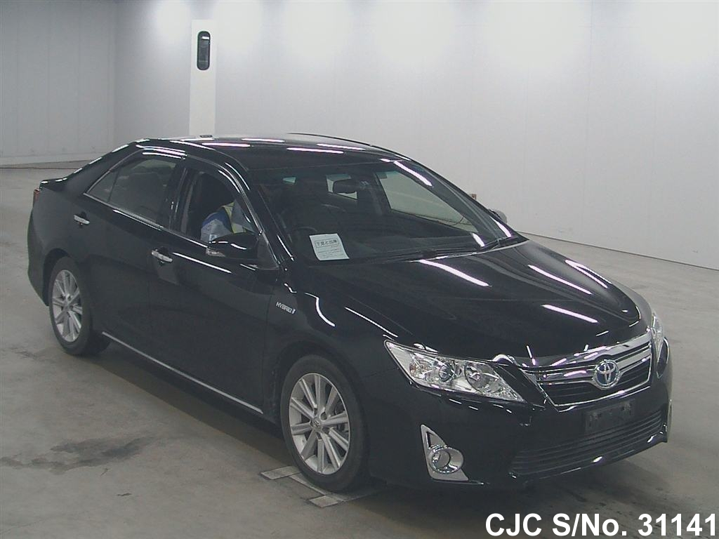 2012 toyota camry black for sale stock no 31141 japanese used cars exporter. Black Bedroom Furniture Sets. Home Design Ideas