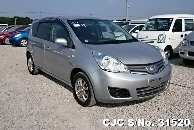 2010 nissan note silver for sale stock no 31520 japanese used cars exporter. Black Bedroom Furniture Sets. Home Design Ideas
