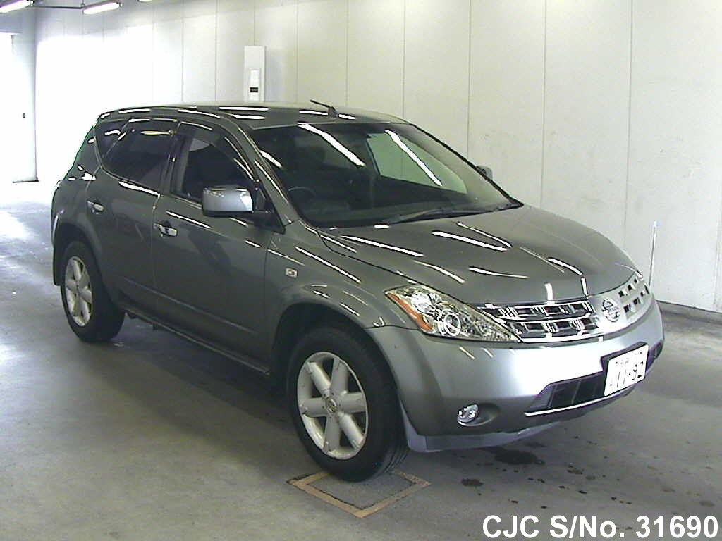 2004 nissan murano silver for sale stock no 31690 japanese used cars exporter. Black Bedroom Furniture Sets. Home Design Ideas