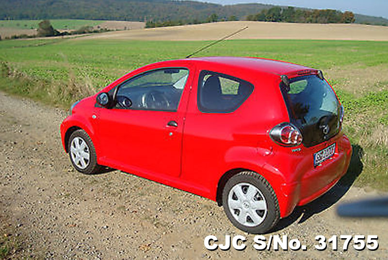 2009 left hand toyota aygo red for sale stock no 31755 left hand used cars exporter. Black Bedroom Furniture Sets. Home Design Ideas