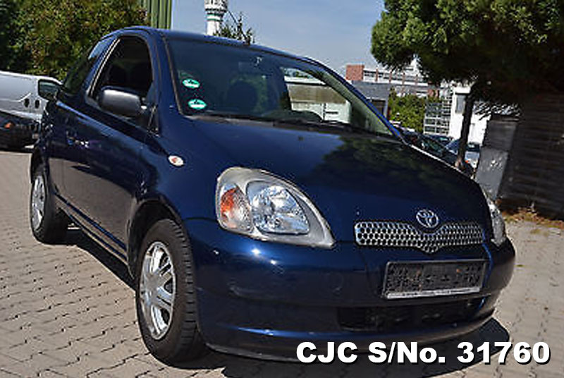 2002 left hand toyota vitz yaris blue metallic for sale stock no 31760 left hand used. Black Bedroom Furniture Sets. Home Design Ideas