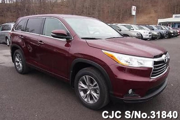 2015 Left Hand Toyota Highlander Maroon For Sale Stock