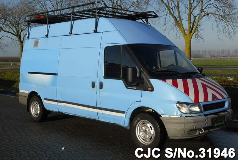 2002 left hand ford transit 350 l blue for sale stock no. Black Bedroom Furniture Sets. Home Design Ideas
