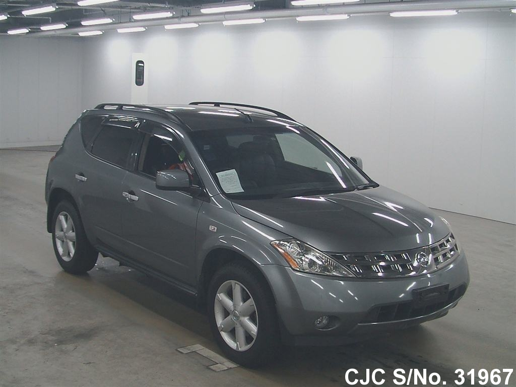 2004 nissan murano gray for sale stock no 31967 japanese used cars exporter. Black Bedroom Furniture Sets. Home Design Ideas