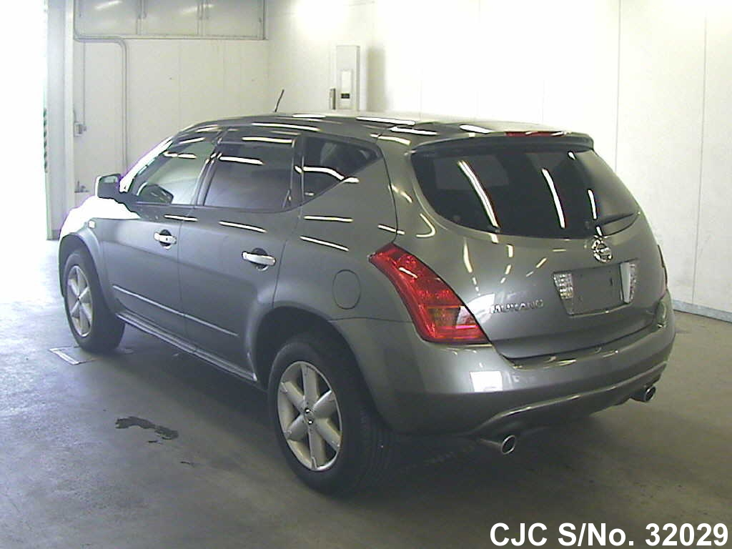 2004 nissan murano gray for sale stock no 32029 japanese used cars exporter. Black Bedroom Furniture Sets. Home Design Ideas