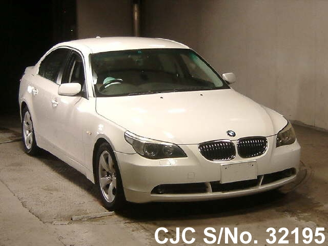 2006 bmw 5 series white for sale stock no 32195 japanese used cars exporter. Black Bedroom Furniture Sets. Home Design Ideas