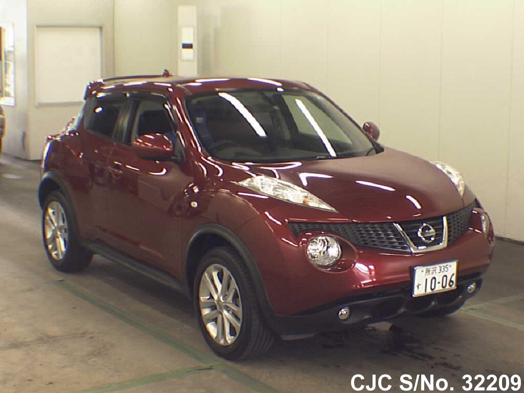2010 nissan juke red for sale stock no 32209 japanese used cars exporter. Black Bedroom Furniture Sets. Home Design Ideas