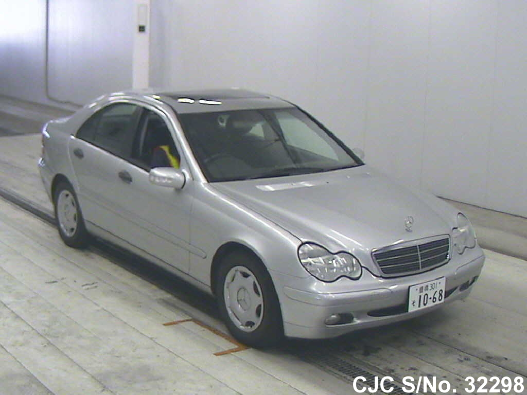 2001 mercedes benz c class silver for sale stock no 32298 japanese used cars exporter. Black Bedroom Furniture Sets. Home Design Ideas