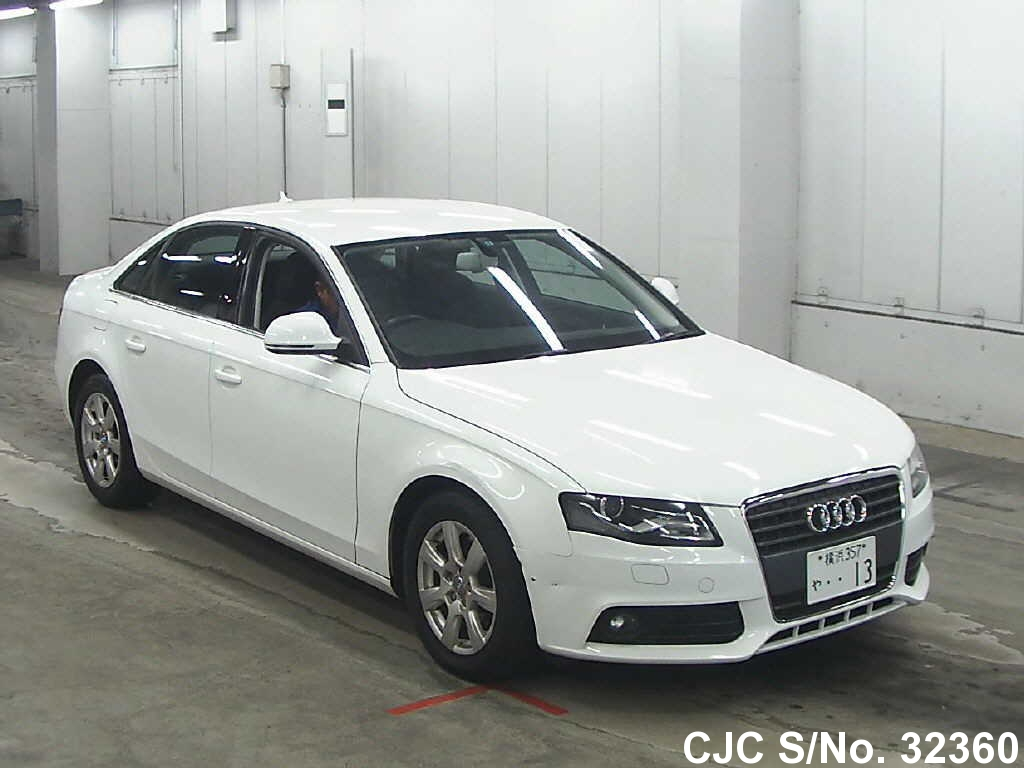 2009 audi a4 white for sale stock no 32360 japanese used cars exporter. Black Bedroom Furniture Sets. Home Design Ideas