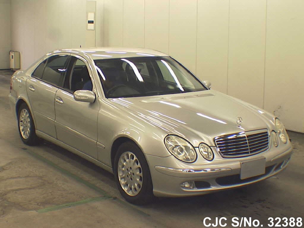 2002 mercedes benz e class silver for sale stock no 32388 japanese used cars exporter. Black Bedroom Furniture Sets. Home Design Ideas