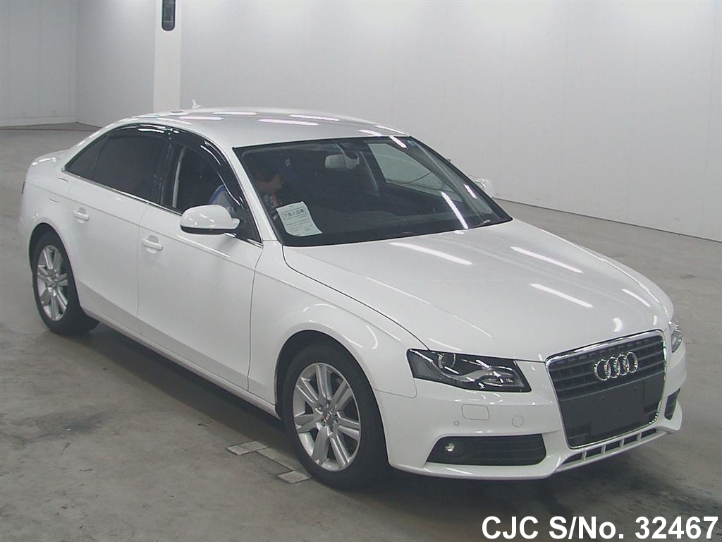 2010 audi a4 white for sale stock no 32467 japanese. Black Bedroom Furniture Sets. Home Design Ideas