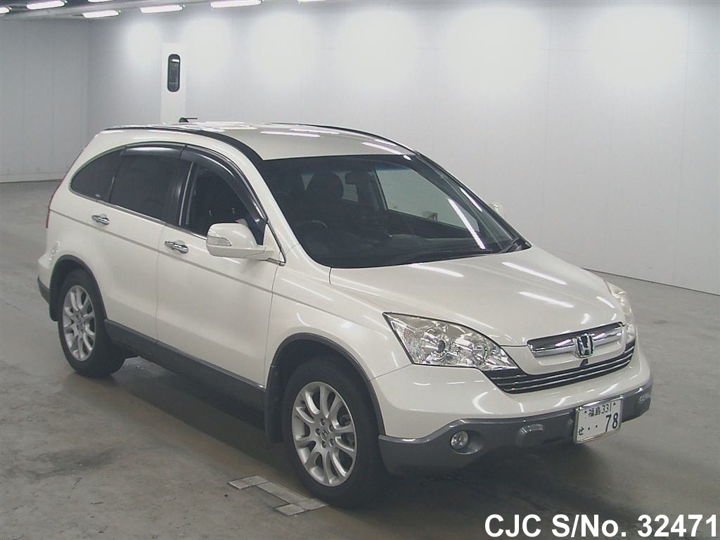 2007 honda crv white for sale stock no 32471 japanese used cars exporter. Black Bedroom Furniture Sets. Home Design Ideas