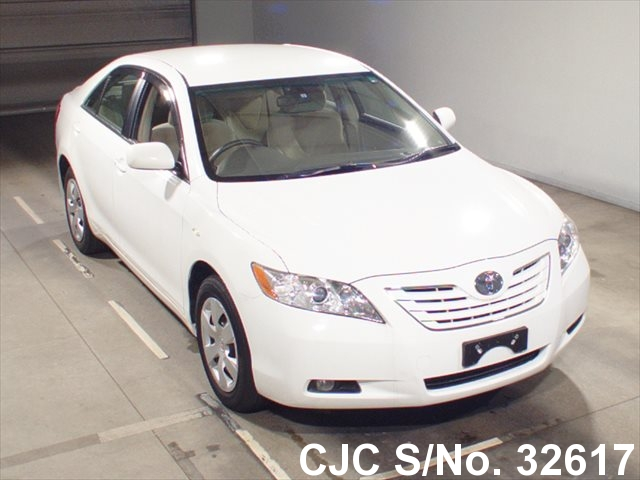 2006 toyota camry white for sale stock no 32617 japanese used cars exporter. Black Bedroom Furniture Sets. Home Design Ideas