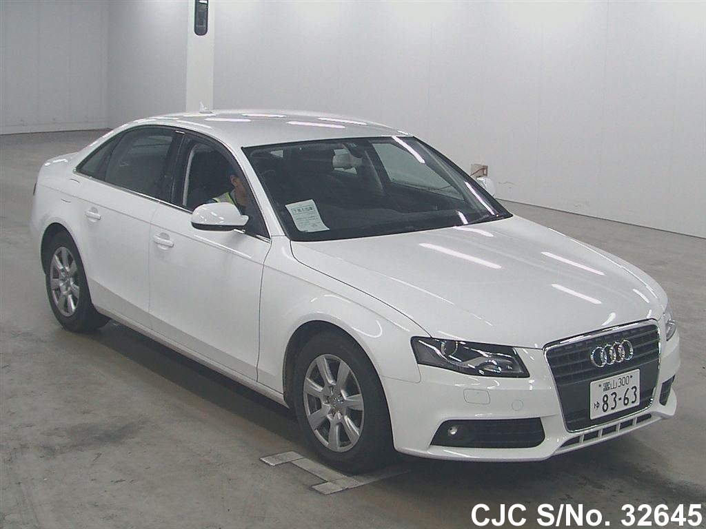 2009 audi a4 white for sale stock no 32645 japanese used cars exporter. Black Bedroom Furniture Sets. Home Design Ideas