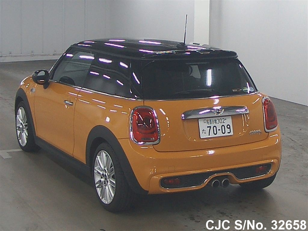 2014 mini cooper orange for sale stock no 32658 japanese used cars exporter. Black Bedroom Furniture Sets. Home Design Ideas