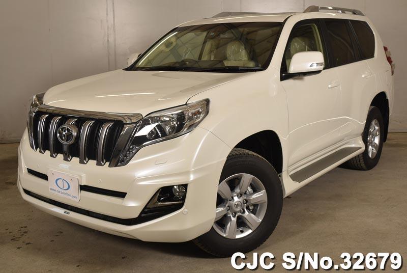 2015 toyota land cruiser prado pearl for sale stock no 32679 japanese used cars exporter. Black Bedroom Furniture Sets. Home Design Ideas