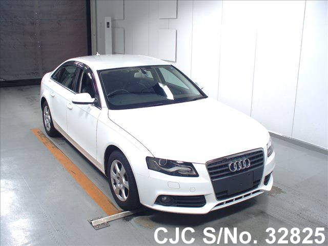 2010 audi a4 white for sale stock no 32825 japanese. Black Bedroom Furniture Sets. Home Design Ideas
