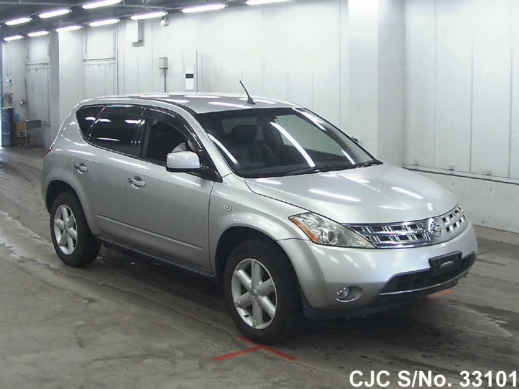 2004 nissan murano silver for sale stock no 33101 japanese used cars exporter. Black Bedroom Furniture Sets. Home Design Ideas