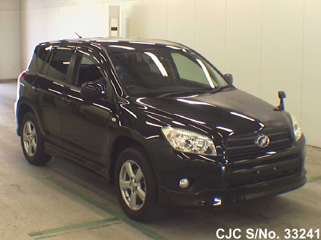 2006 toyota rav4 black for sale stock no 33241 japanese used cars exporter. Black Bedroom Furniture Sets. Home Design Ideas