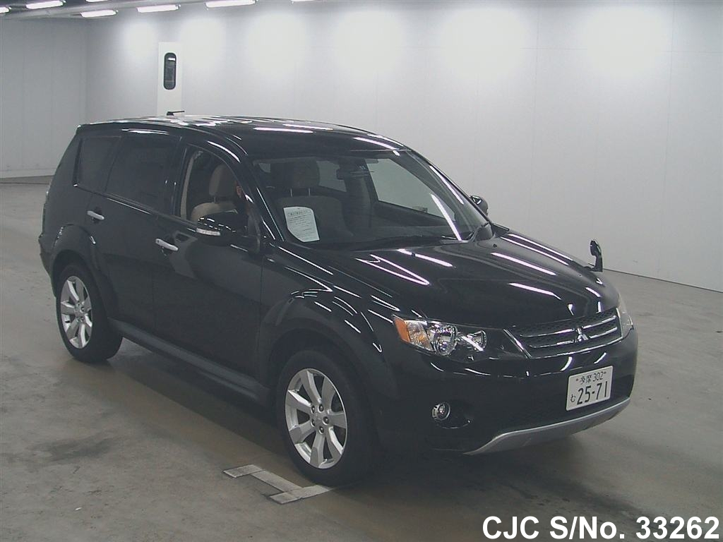 2009 mitsubishi outlander black for sale stock no 33262 japanese used cars exporter. Black Bedroom Furniture Sets. Home Design Ideas