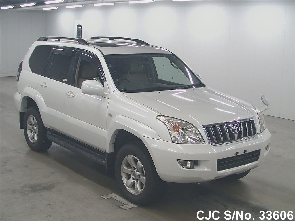 2003 toyota land cruiser prado white for sale stock no. Black Bedroom Furniture Sets. Home Design Ideas