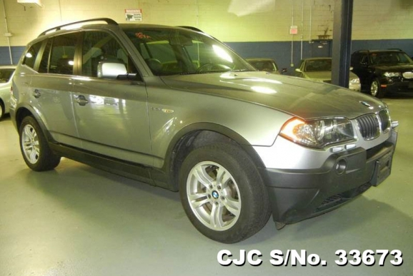 2005 left hand bmw x3 gray for sale stock no 33673 left hand used cars exporter. Black Bedroom Furniture Sets. Home Design Ideas