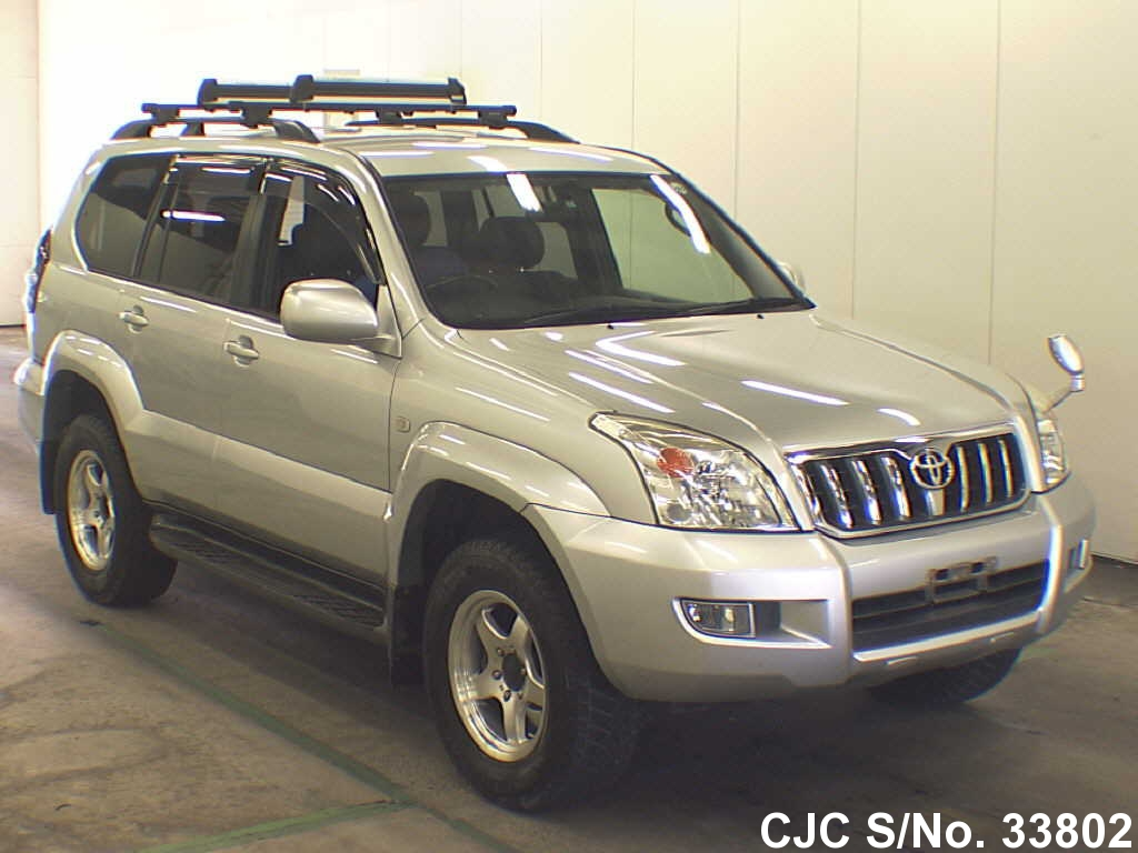2005 toyota land cruiser prado silver for sale stock no 33802 japanese used cars exporter. Black Bedroom Furniture Sets. Home Design Ideas