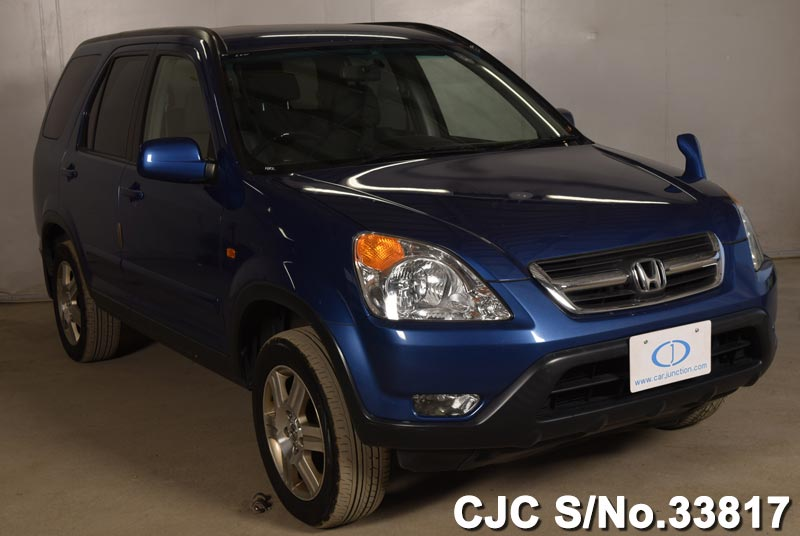 2003 honda crv blue for sale stock no 33817 japanese for 2003 honda crv gas mileage