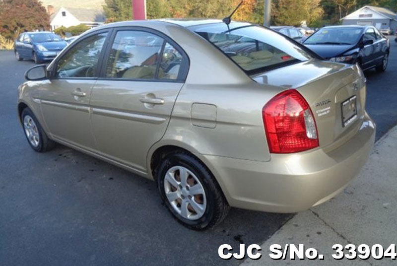 2007 left hand hyundai accent beige for sale stock no 33904 left hand used cars exporter. Black Bedroom Furniture Sets. Home Design Ideas