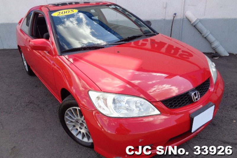 2005 left hand honda civic red for sale stock no 33926 left hand used cars exporter. Black Bedroom Furniture Sets. Home Design Ideas