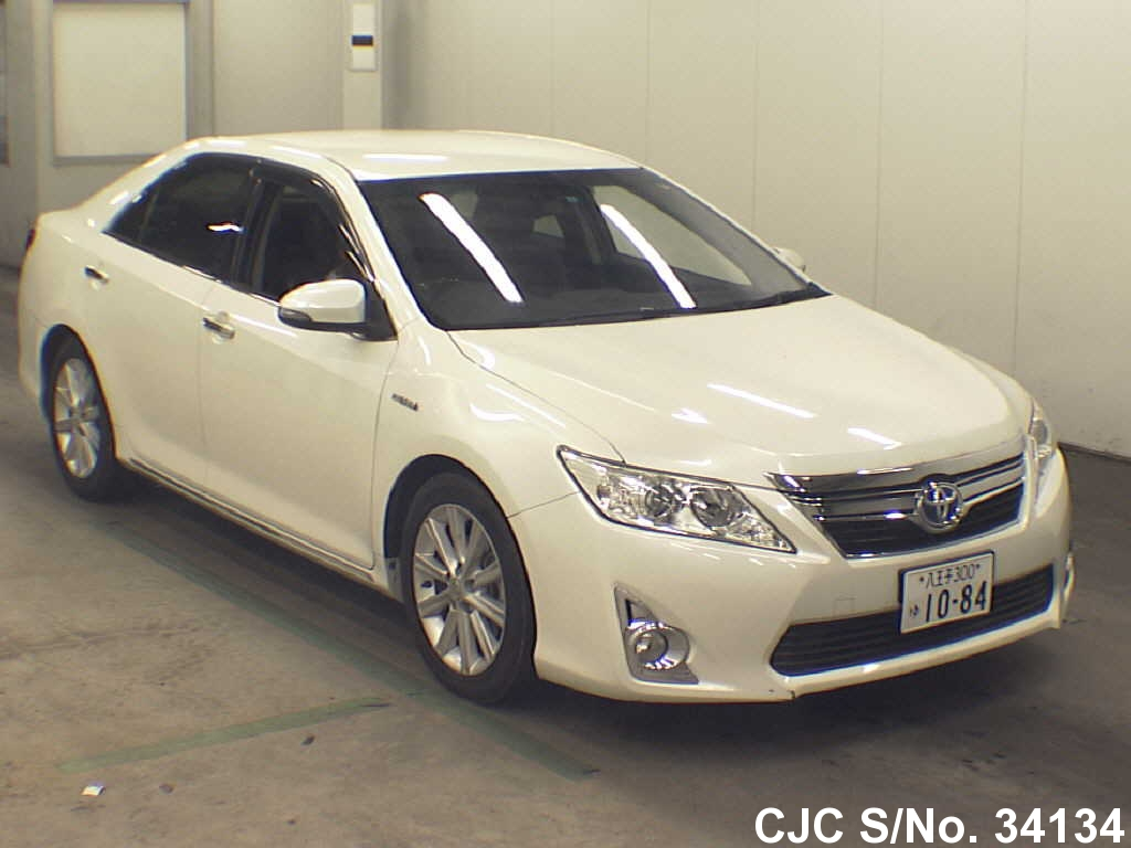 2012 toyota camry pearl for sale stock no 34134 japanese used cars exporter. Black Bedroom Furniture Sets. Home Design Ideas