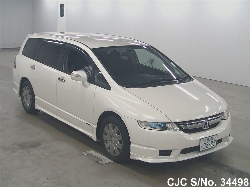 2008 honda odyssey shuttle white for sale stock no 34498 japanese used cars exporter. Black Bedroom Furniture Sets. Home Design Ideas