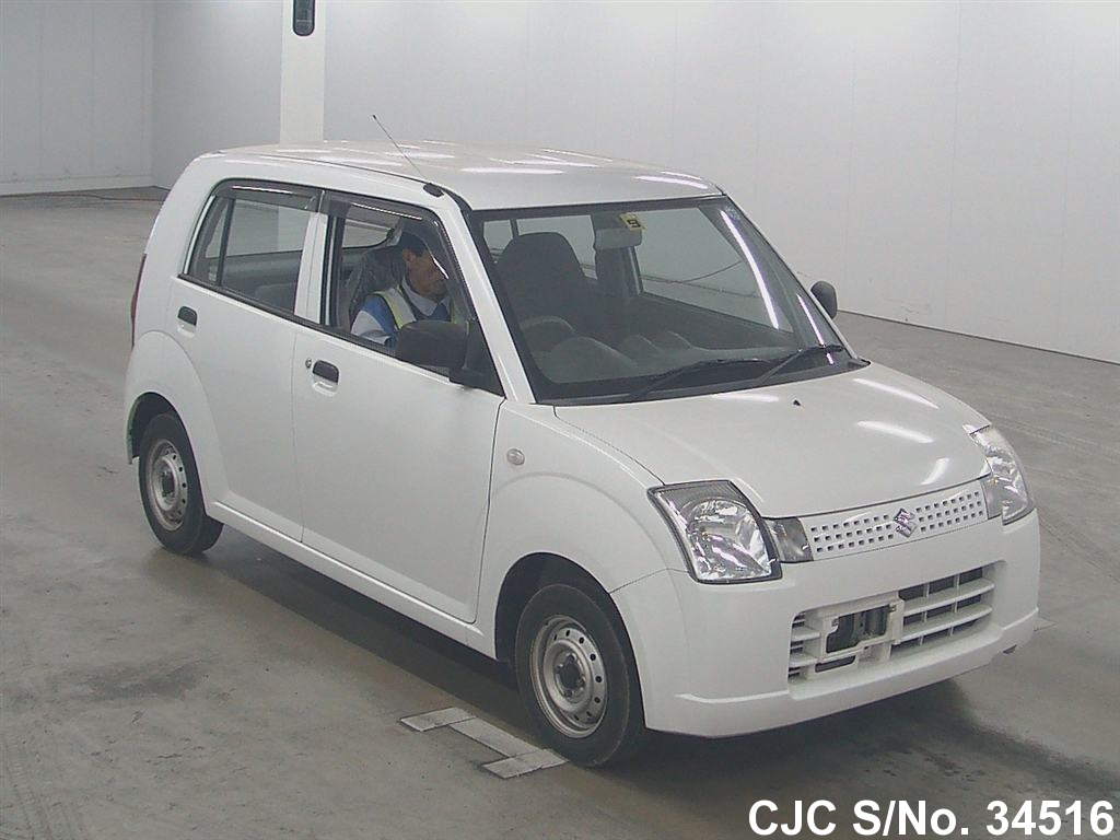 2009 suzuki alto white for sale stock no 34516 japanese used cars exporter. Black Bedroom Furniture Sets. Home Design Ideas