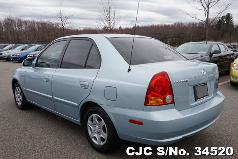 2004 left hand hyundai accent blue for sale stock no. Black Bedroom Furniture Sets. Home Design Ideas