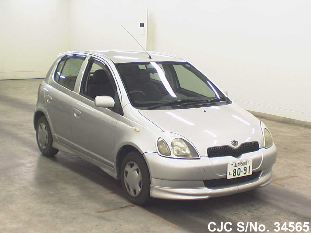 2001 toyota vitz yaris silver for sale stock no 34565 japanese used cars exporter. Black Bedroom Furniture Sets. Home Design Ideas