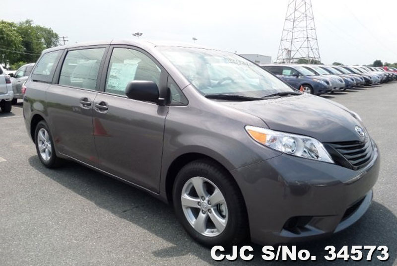 2015 left hand toyota sienna gray for sale stock no. Black Bedroom Furniture Sets. Home Design Ideas