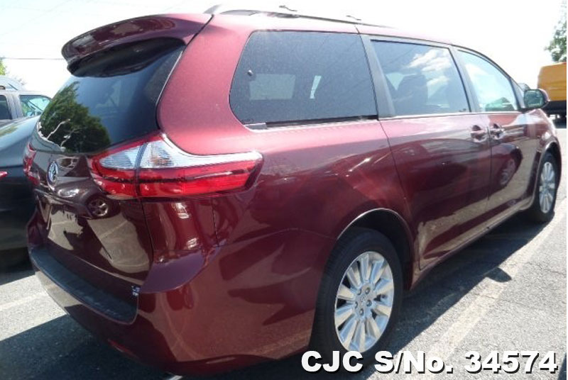 2015 left hand toyota sienna red for sale stock no. Black Bedroom Furniture Sets. Home Design Ideas