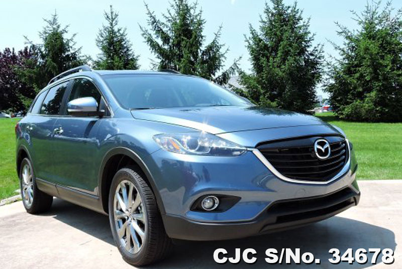 2015 left hand mazda cx 9 blue for sale stock no 34678 left hand used cars exporter. Black Bedroom Furniture Sets. Home Design Ideas