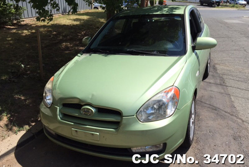 2007 left hand hyundai accent green for sale stock no 34702 left hand used cars exporter. Black Bedroom Furniture Sets. Home Design Ideas